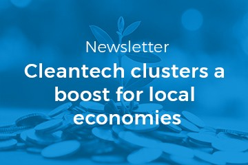 Newsletter 05/2018: Cleantech clusters a boost for local economies